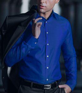 blauw-overhemd