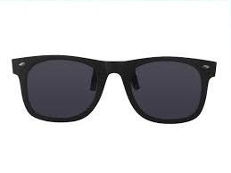 483wayfarer clip on zonnebril groen